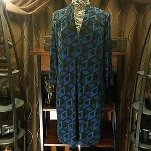 Banana Republic geometric pattern dress, size L
